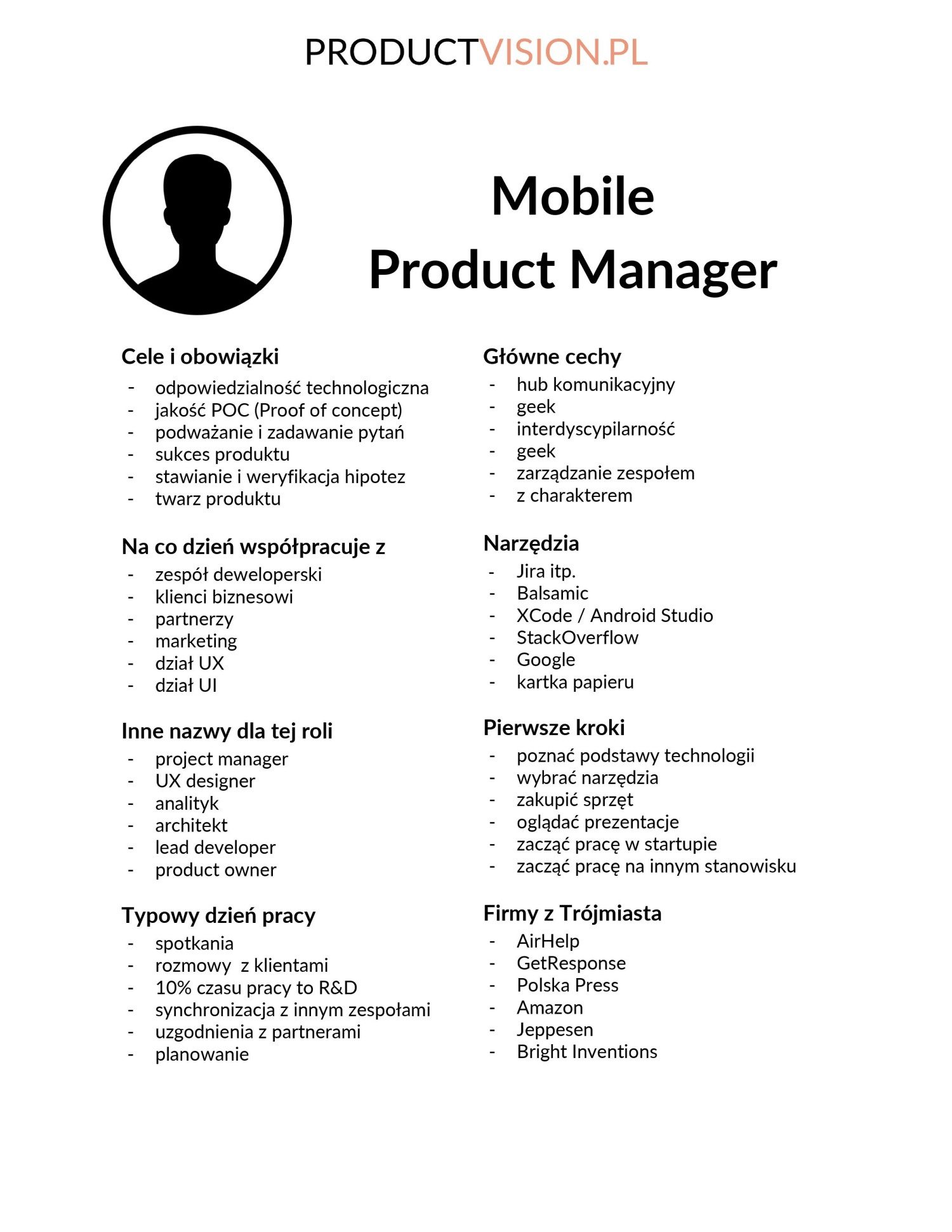 Persona - Mobile Product Manager